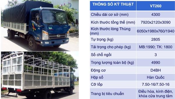 thong-so-xe-tai-veam-vt-260