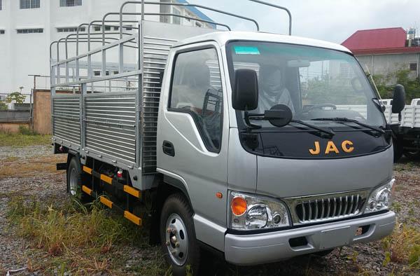 Công ty chuyên bán xe tải 2,4 tấn chạy vào thành phố, Giá bán xe tải Jac 2,4 tấn/2T4 thùng dài 3m7