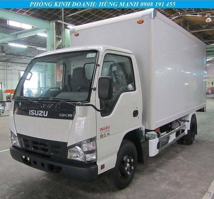 xe tải isuzu 1t4 thùng kín composite