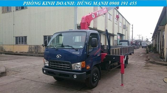 xe tải hyundai 8 tấn gắn cẩu