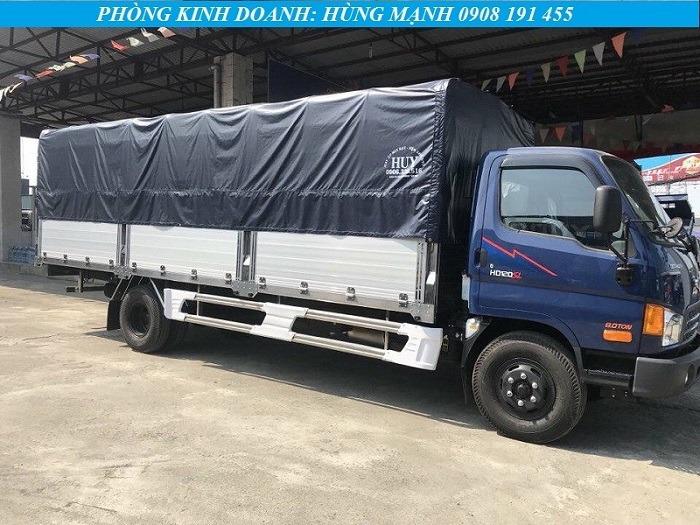 xe tải hyundai 8 tấn thùng bạt