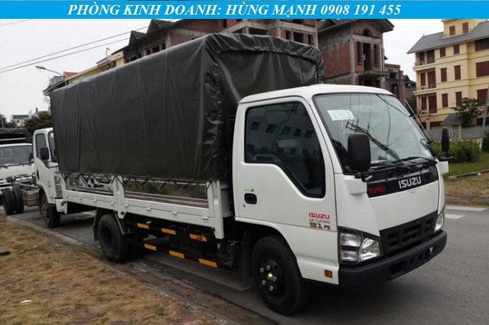 Xe tải Isuzu 1t4 thùng bạt tiêu chuẩn