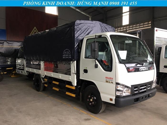 xe tải isuzu 2t2 thùng bạt trắng