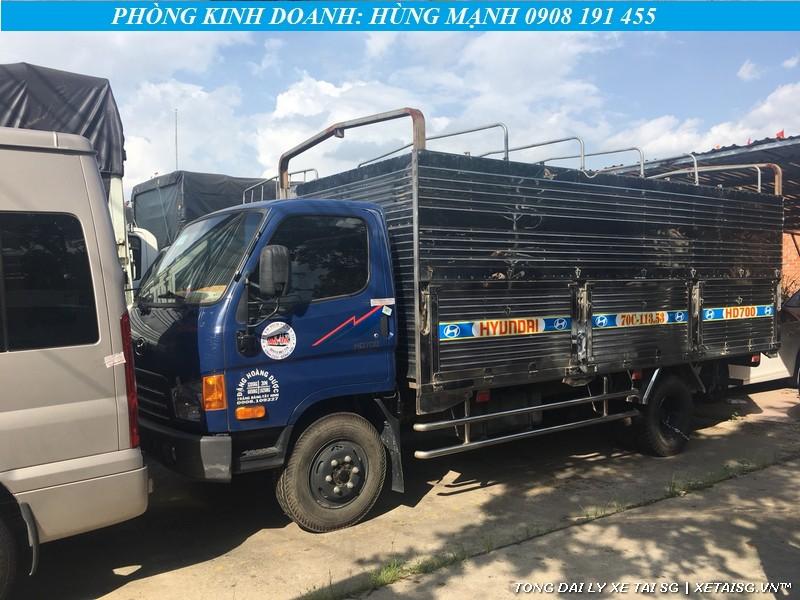 Ngoại hình xe tải Hyundai cũ HD700