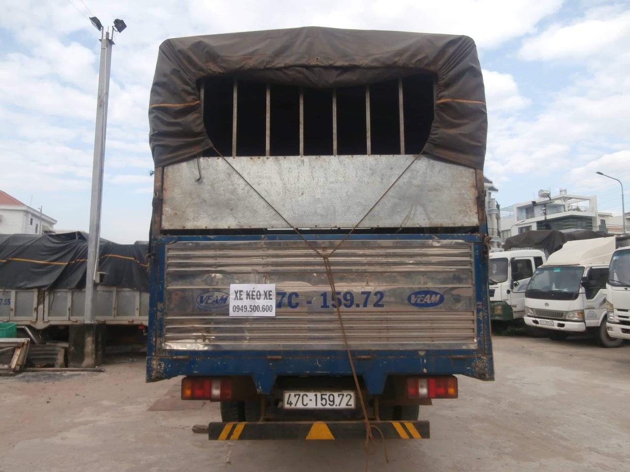 Thùng mui bạt xe Veam VT735 cũ