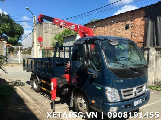 xe tải thaco gắn cẩu 2t5